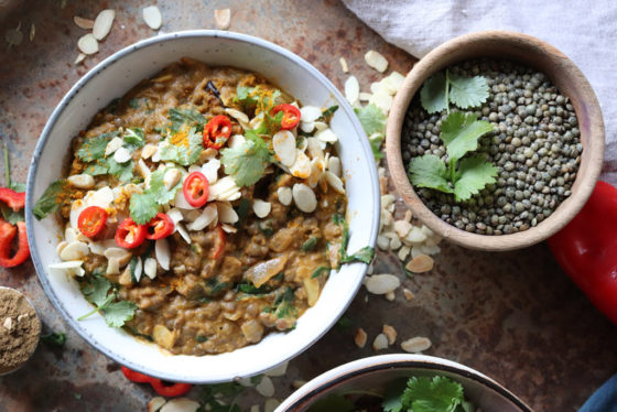 Roast Squash and Lentil Curry