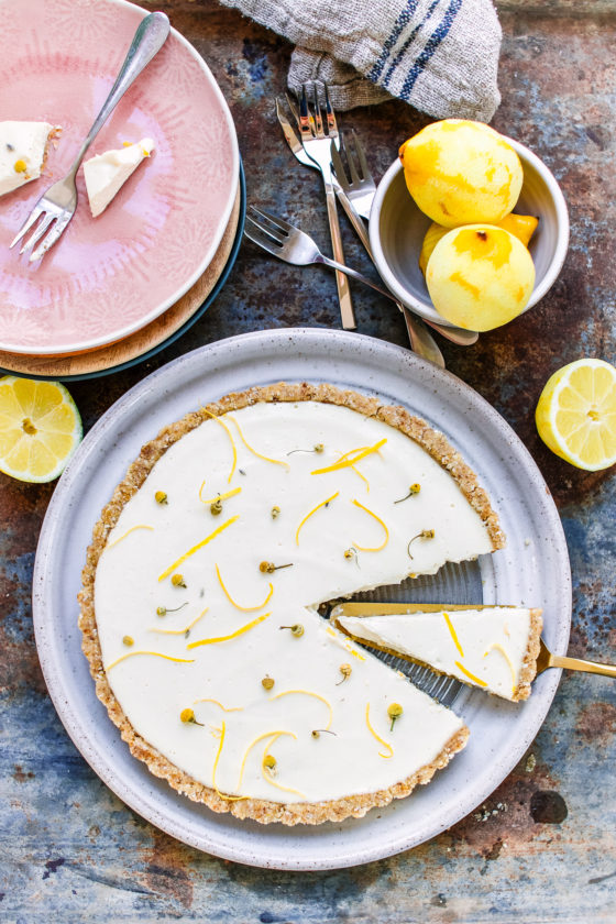 Lemon tart vegan and gluten free