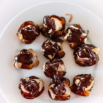 Stuffed dates with nut butter and dark chocolate