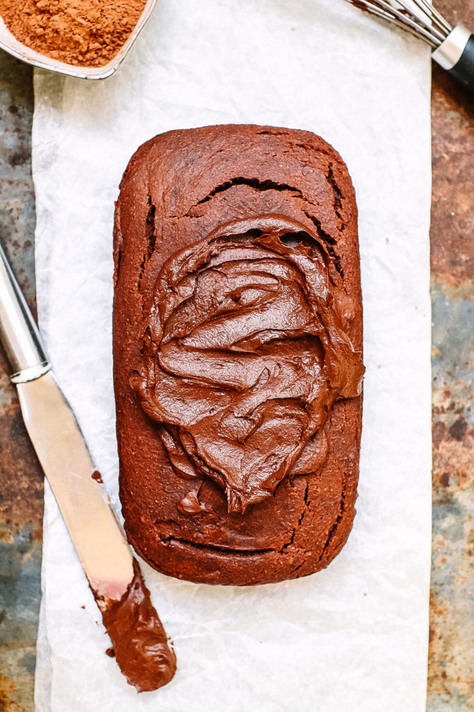 vegan and gluten free Chocolate banana loaf